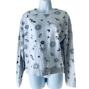 H&M moon and stars themed sweatshirt size S